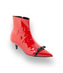 EUR 103,20 Bianca Di Bianca di Stiefelette in rot Lackleder, Kittenheel und  süße Schleife 36 37 39 40 41 ... 4406a67d6c