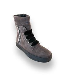 e176ba4ee5d4 EUR 167,20 Donna Carolina Donna Carolina Boots in grau velours mit Streifen  35 36 37 38 39 40 Donna Carolina