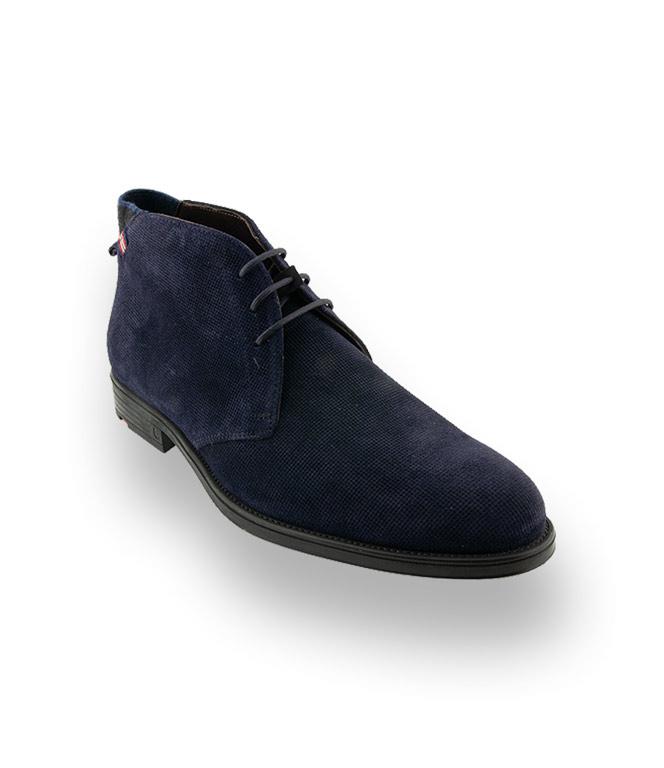 buy popular 3c9ff a4993 Lloyd Page Herrenschuh in blau velours geprägt ...