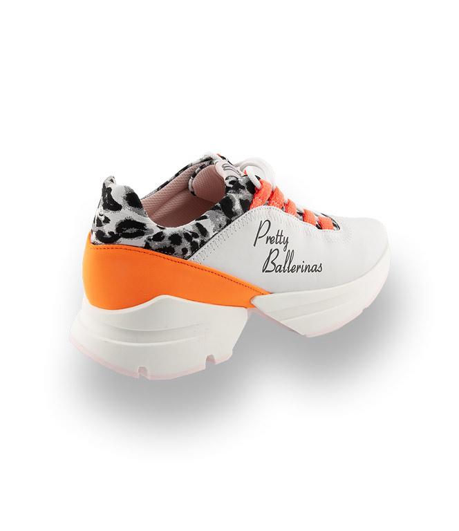 Pretty Ballerinas Sneaker in weiß mit orange  