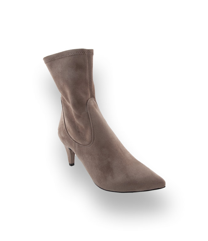 Modell In Unisa Kenji Stiefelette Taupe Velours b6gYyf7